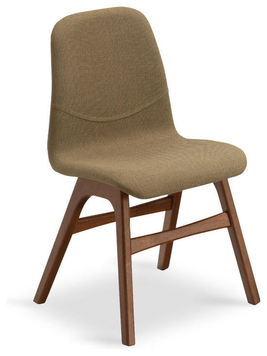 Bryght - Ava Latte Fabric Upholstered Cocoa Dining Chair - Bring the mid century modern look and feel right into your home. The Ava dining chair is bound to add a refreshing touch to your decor and appeal to the modern aesthetic.