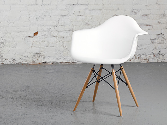 Eames daw chair replica midcentury dining chairs for Eames plastic armchair daw replica