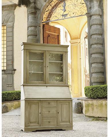 Casa Florentina San Marino Secretary Desk With Hutch