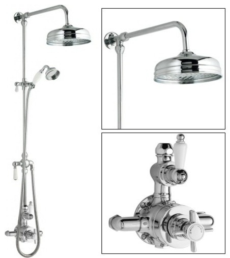 Thermostatic shower system ceramic and chrome for Body spray shower systems