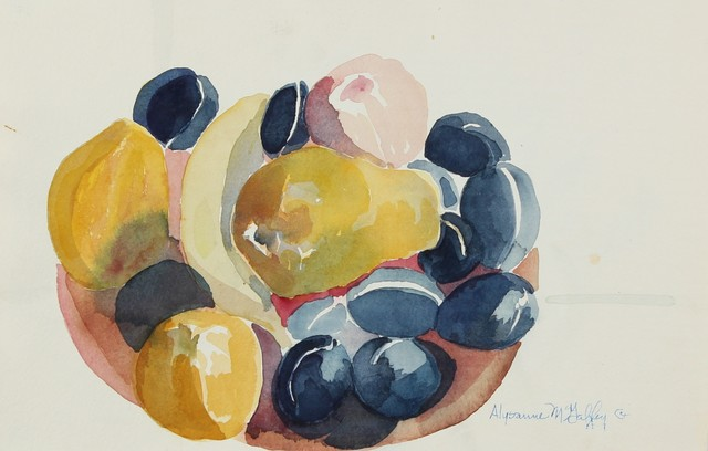 Late 20th C. Watecolor Still Life by Alysanne McGaffey modern-originals-and-limited-editions