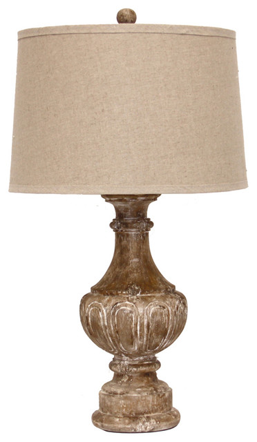 Distressed Finial Lamp Farmhouse Table Lamps by Bliss Home and Design