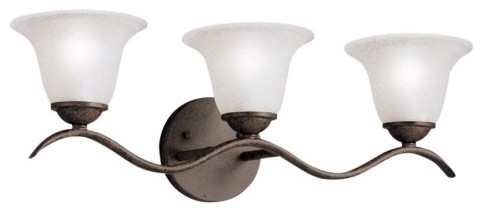 Kichler Dover Bathroom Wall Light - 22.5W in. Tannery Bronze traditional-bathroom-lighting-and-vanity-lighting