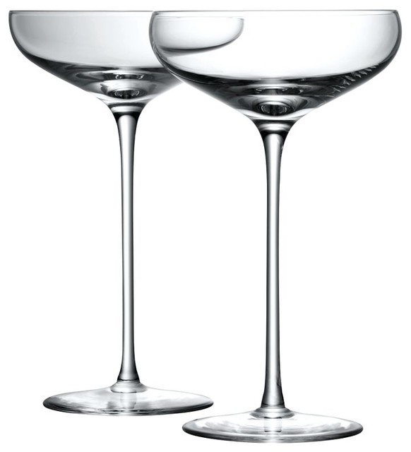 LSA Bar Collection Champagne Saucers, Box of 4 contemporary-wine-and-bar-tools