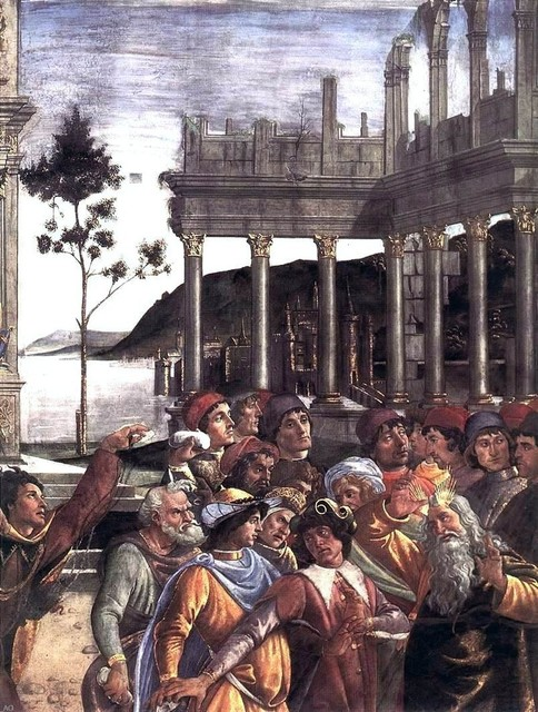 Sandro Botticelli The Punishment of Korah and the Stoning of Moses Print traditional-artwork