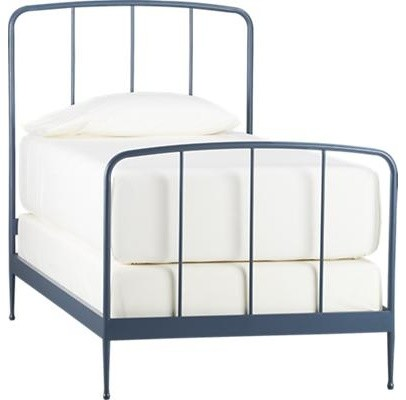 Rory Blue Twin Bed contemporary-beds
