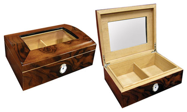 Addison Glass Top Cigar Humidor - Traditional - Barware - by Wholesale ...