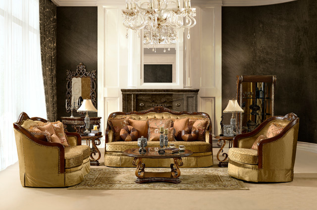 Homey design luxurious living room sofa set hd 3114 slc traditional