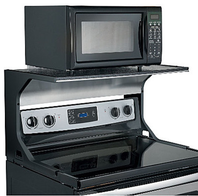 Countertop Microwave Rack : Microwave Oven Shelf Bracket - Contemporary - Display And Wall Shelves ...