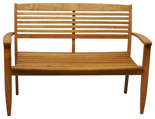 Iris 2-Seat Bench contemporary-outdoor-stools-and-benches