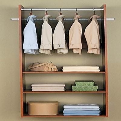 Easy Track Closet 72 in. Cherry Hanging Tower Kit - RV1472-C modern-closet-organizers