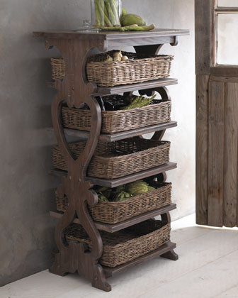 Basket Etagere eclectic storage and organization