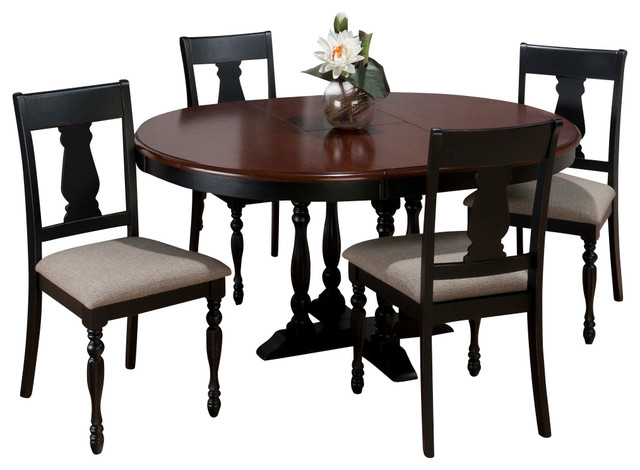 piece round butterfly leaf dining room set traditional dining sets