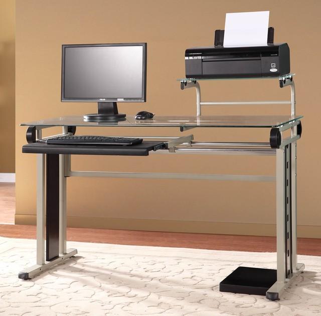 Homelegance Network Metal puter Desk with Printer