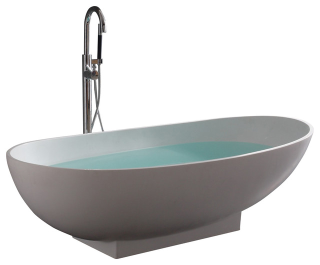 Stand Alone Bathtubs : Stand Alone Resin Bathtub - Modern - Bathtubs - by ADM Bathroom Design