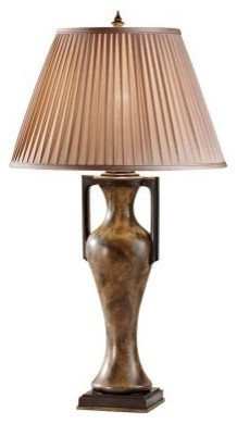 Murray Feiss Cordelia 10128STN Table Lamp - 17 diam. in. - Stone modern-table-lamps