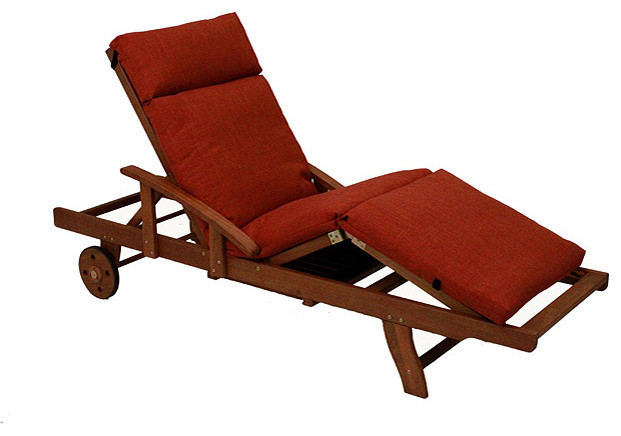 Blazing needles solid all weather 3 section outdoor chaise for Aqua chaise lounge cushions