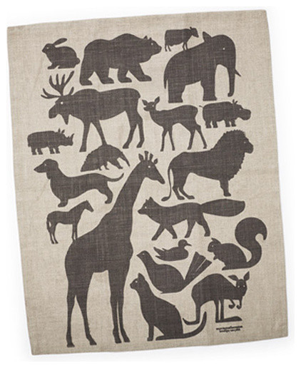 Animal Silhouette Dish Towel contemporary-dish-towels