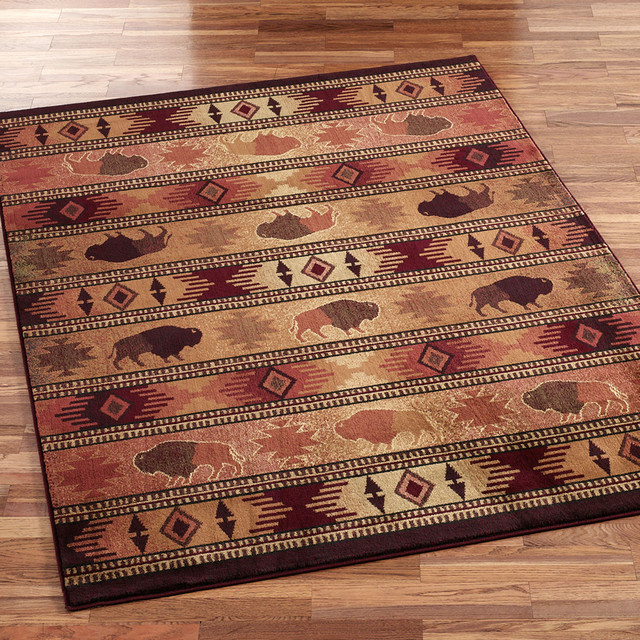Buffalo Trail Area Rug eclectic-rugs