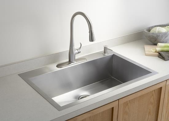 Single Bowl Kohler Kitchen Sink - Contemporary - Kitchen Sinks ...