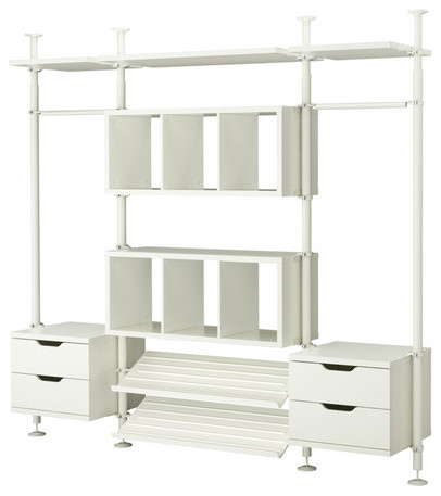 stolmen 3 sections contemporary closet organizers by ikea. Black Bedroom Furniture Sets. Home Design Ideas