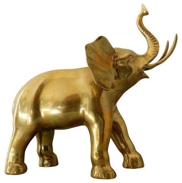 SOLD OUT Large Vintage Brass Elephant 275 Est Retail