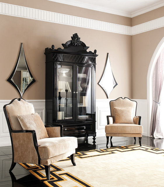 Mistique - Black China Cabinet - Modern - China Cabinets And Hutches - dallas - by The Interior ...