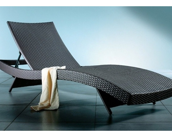 Azih Contemporary Chaise Lounge - Bring an eye-catching addition to your outdoor decor with this Azih Contemporary Chaise Lounge.