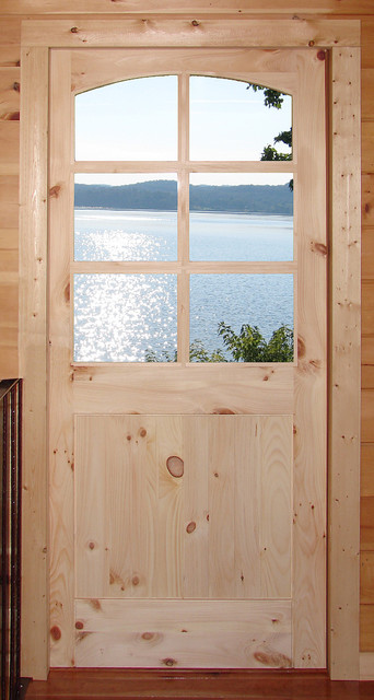 Rustic Doors - Custom Knotty Pine 6-Lite Door ...