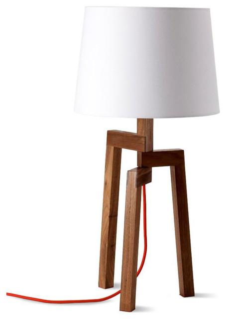 Blu dot stilt table lamp with stilt floor lamp - Blu Dot Stilt Table Lamp Walnut Modern Table Lamps