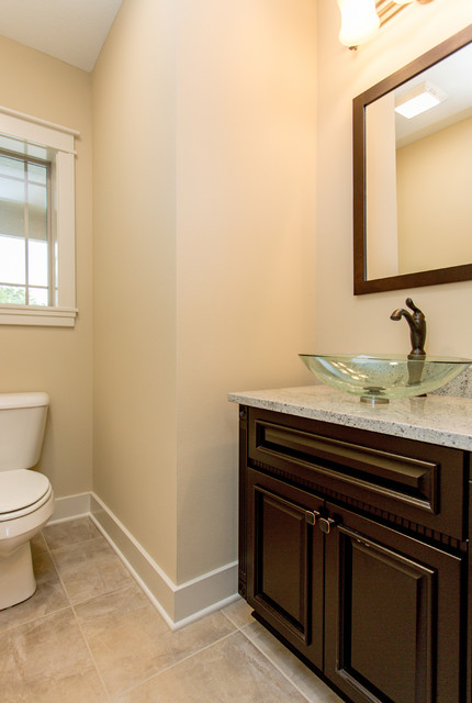 American Heritage Homes Custom Two Story traditional-powder-room