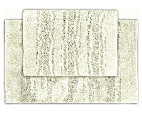 Sands Rug - Westport Stripe Chalk Washable Bath Rug (Set of 2) - Classic and comfortable, the Westport Stripe bath collection adds instant luxury to your bathroom, shower room or spa. Machine-washable, always plush nylon holds up to wear, while the non-skid latex makes sure rugs stay in place.