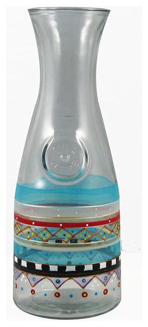 Mosaic Carnival Carafe contemporary-serveware
