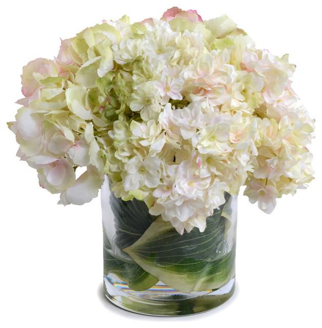Faux Hydrangea Bouquet Traditional Artificial Flower