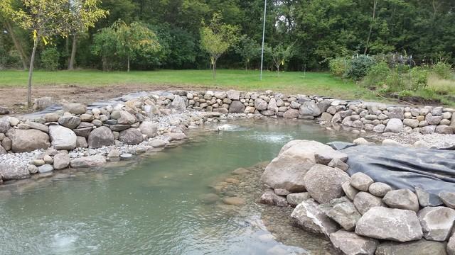 Dexter Mi Large Pond Build Landscape Detroit By