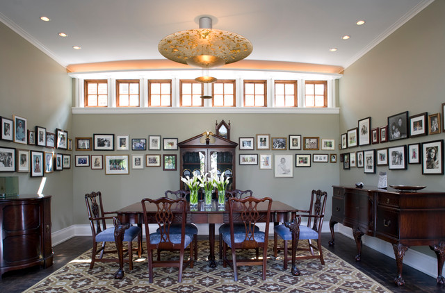 Transitional Corner eclectic-dining-room
