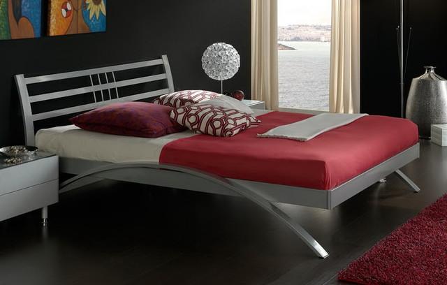 Luna Bed with Curved Side Rails modern-beds