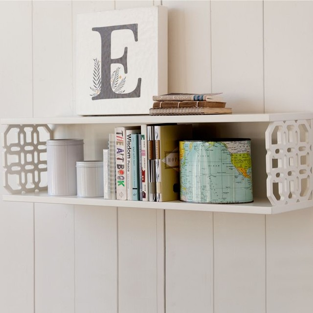 Peyton Lattice Shelf - Contemporary - Display And Wall Shelves - by PBteen