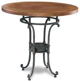 pub table 38 diameter copper  Table Png