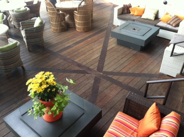 The Oasis on Lake Travis in Austin, Texas contemporary wood flooring