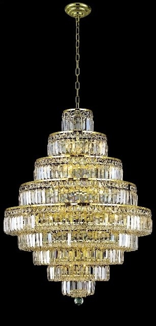 Elegant Lighting 2038D30G/SA Chandelier from the Maxim Collection contemporary-chandeliers