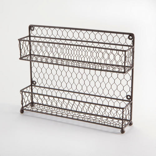 Two-Tier Wire Spice Rack traditional cabinet and drawer organizers