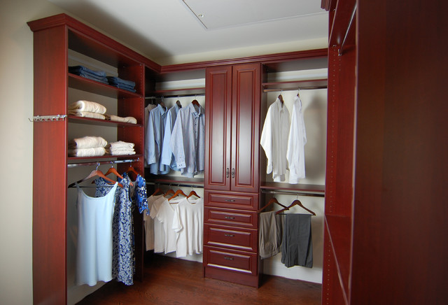 His and Hers walk in closet  Potomac MD   Traditional   Closet   dc