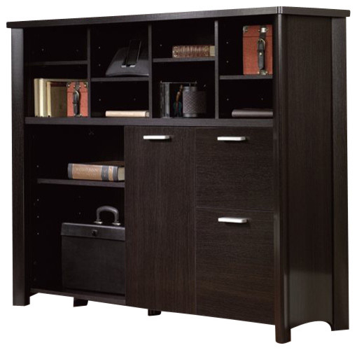 Sauder Aspen Credenza in Wind Oak - Transitional - Storage Cabinets - by Cymax