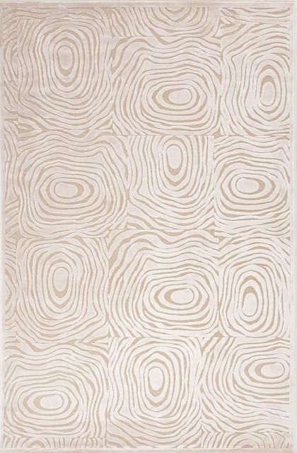 Contemporary Fables 9'x12' Rectangle Cream-Cream Area Rug contemporary-rugs