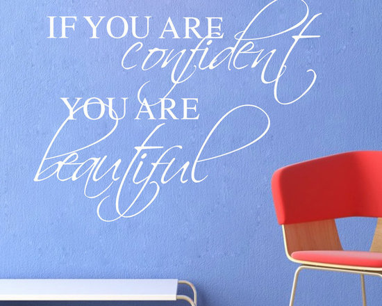 ColorfulHall Co., LTD - Window Stickers If You Are Confident You Are Beautiful - Window Stickers If You Are Confident You Are Beautiful