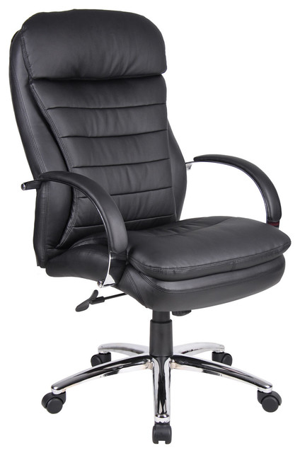Boss High Back Caressoft Plus Executive Office Chair with Chrome Base contemporary-task-chairs