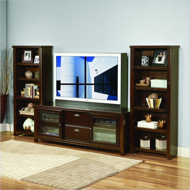 Kathy ireland home by martin furniture loft bookcase for Media center with bookshelves
