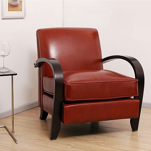 Bloomington Leather Chair Cognac Contemporary Living