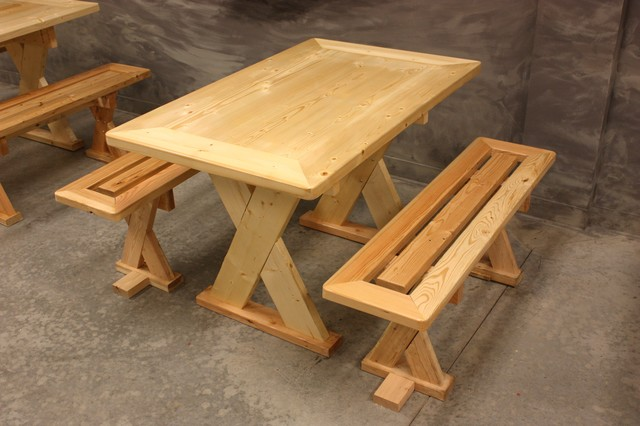 Custom Picnic Table and Benches - Eclectic - Dining Sets - atlanta ...